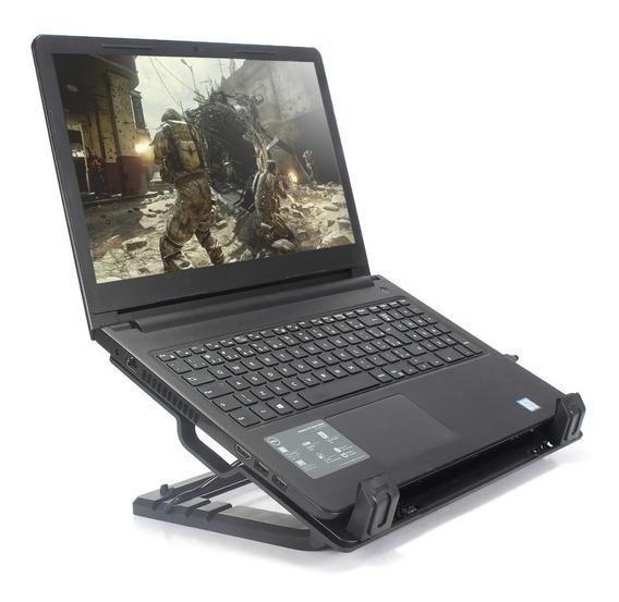 Base Suporte Cooler P/ Notebook Preto Até 17 Apoio Sp6