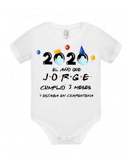 Body Personalizado Para Bebé Cumpleaños Coronaviru