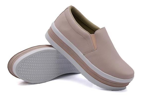 Casual Sola Alta Moda Flatform Slipon Dk Shoes Liso