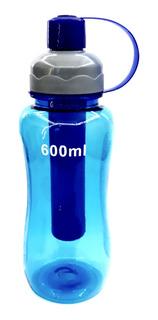2 Squeeze 600ml Garrafa Fitness Água Academia Esporte - Azul