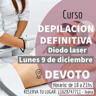 Curso Depilacion Definitiva Diodo Laser Lunes 11 Noviembre