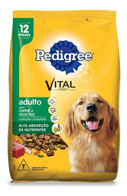 Ração Pedigree Carne E Vegetais Cães Adultos - 20kg