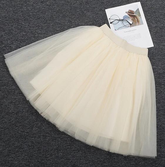 Falda Tutu Tul 5 Capas Fondo Casual Elegante Dama Mujer