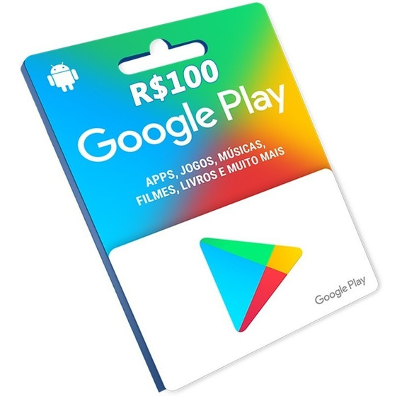 Cartão Google Play R$100 Reais Br Store Gift Card Android