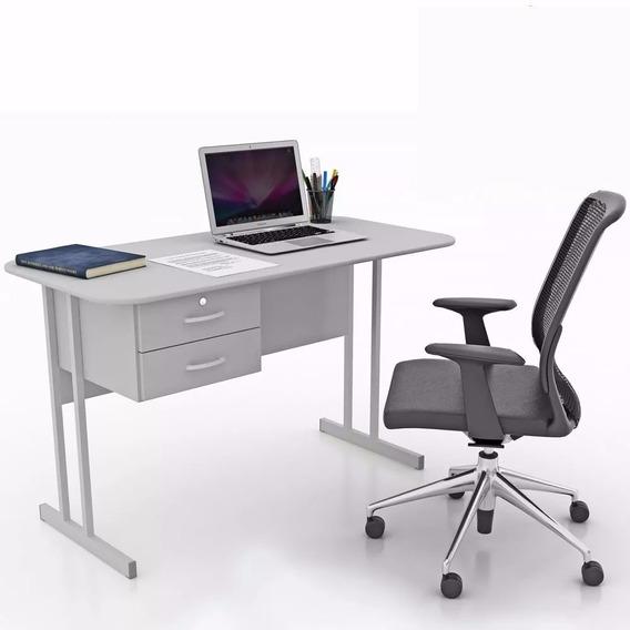 Mesa Escritório Com 2 Gavetas Escrivaninha
