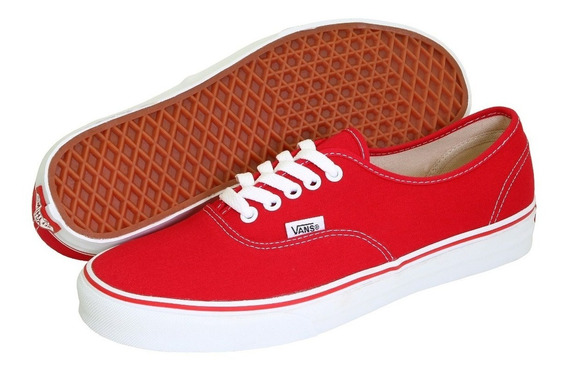 Tenis Vans Authentic Originales Clasico Rojo Unisex