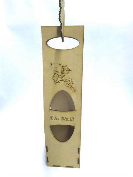 Recuerdo Caja Porta Vinos Mdf, Modelo: 015 Set 25 Pzs