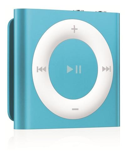 iPod Shuffle 4 Geração 2gb Azul Metalico Com Cabo Usb