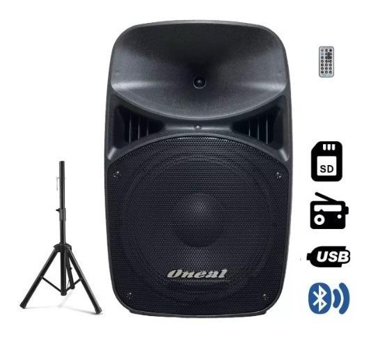 Caixa Ativa Oneal Opb915bt Bluetooth 360w + Pedestal