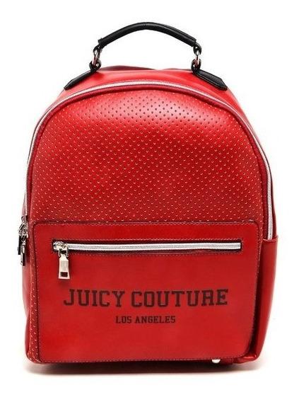 Bolsa Mochila Juicy Couture Perfuros Vermelha