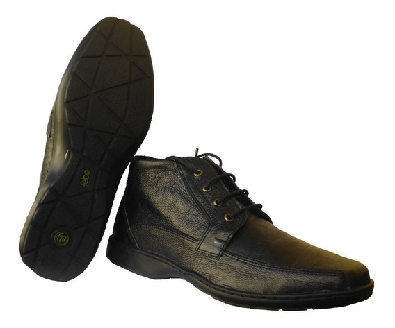 Zapatos Botitas Botinetas Botas De Hombre En Cuero Goma Febo