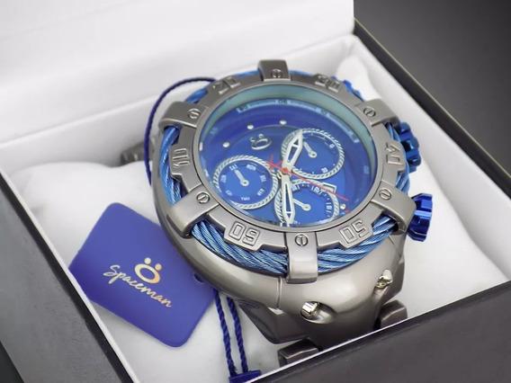 Relógio Masculino Original Prata Luxo Spaceman Promoção