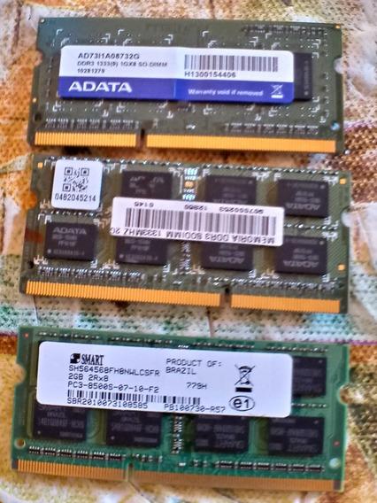 Memoria Ram Para Notbook De 1 E 2 Giga Bayt 1333 Mhz