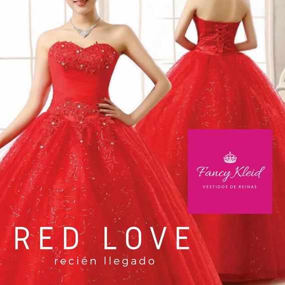 Vestido De 15 Rojo Talle S