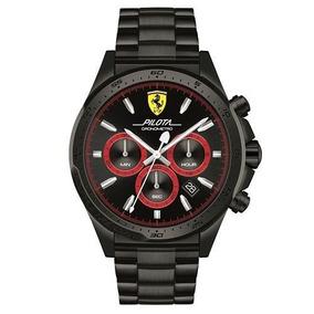 Relógio Scuderia Ferrari Masculino Aço Preto