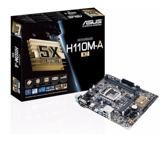Placa Mãe Asus H110m-a M.2 Intel Soquete Lga 1151