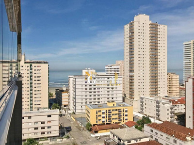 Apartamento Alto Padrão De 1 Dormitório C/ Suite, Lazer Completo E Vista Mar! Aceita Financiamento Direto!! - Campo Da Aviação - Praia Grande/sp - Ap2136