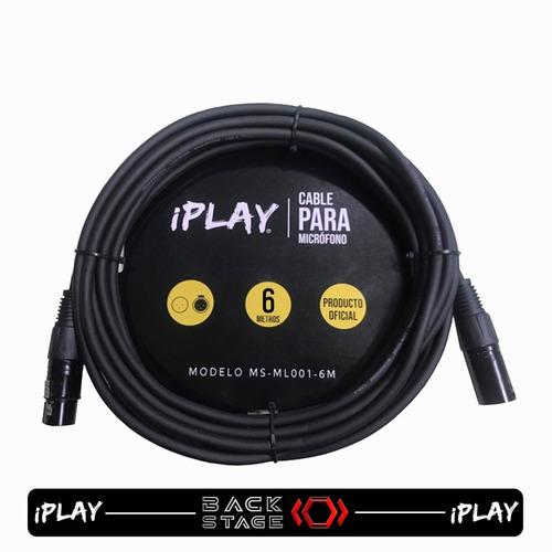 Imagen 1 de 7 de Iplay Ms-ml001-6m Cable P/ Micrófono 6 Metros Conector Xlr