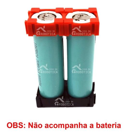2 Pares - Suporte Para Armazenamento De Bateria 18650