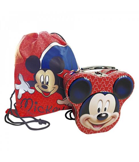 Maleta Com Bolsinha Mickey Mouse Licenciada Disney