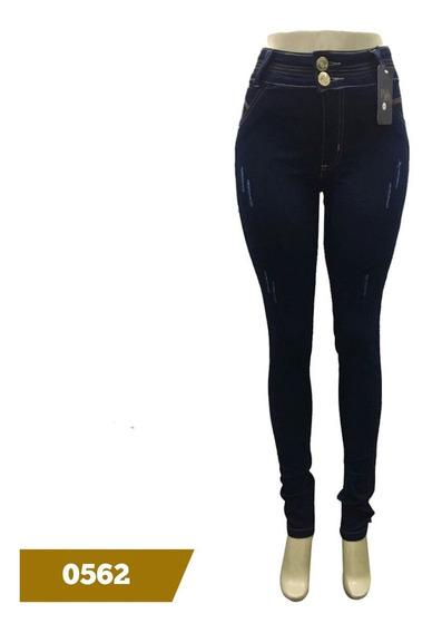 Calca Jeans Feminina Cintura Alta Com Lycra 36 Ao 44