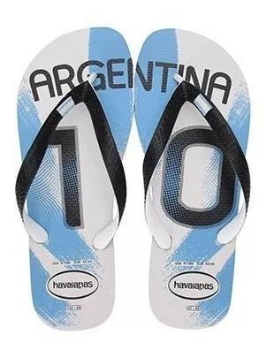 Chinelo Masculino Havaianas Teams Ii Argentina Tam. 45/46
