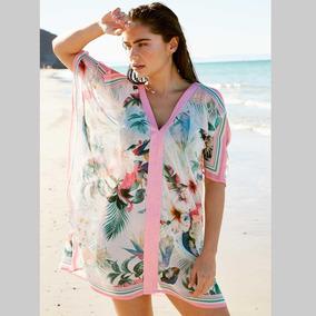 Kaftan De Playa Holly Land Rosa Mujer -a8c78d