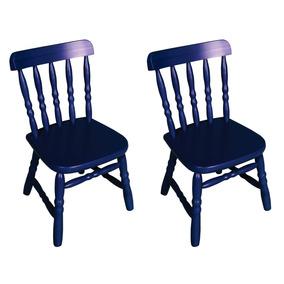 Kit 2 Cadeiras Infantil Country Azul Ecomóveis Azul Gg