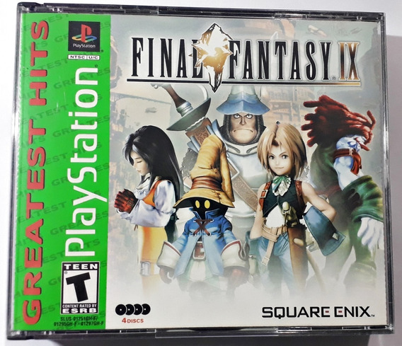 Jogo Final Fantasy Ix 9 Ps1 Ps2 Ps3 Playstation Frete Grátis