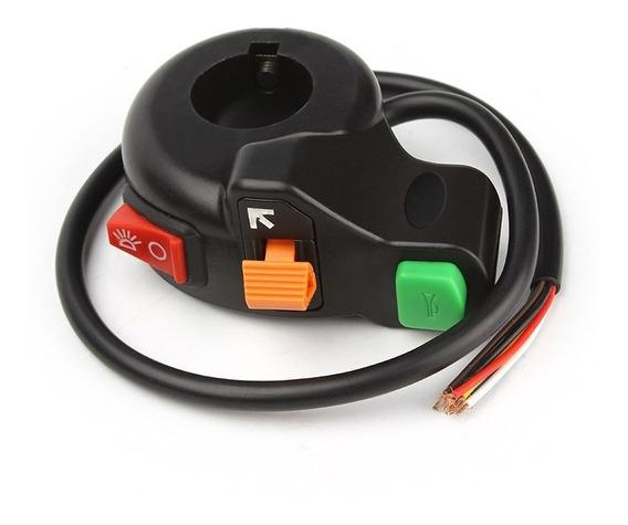 Chave Atv Interruptor Univesal Farol Seta E Buzina Moto 001