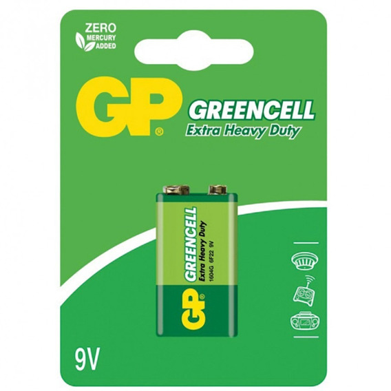 Bateria Greencell Gp 9v Blister Com 1