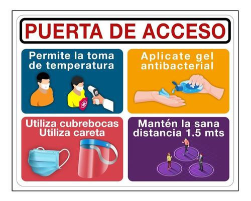 Imagen 1 de 4 de Señalamiento Coronavir Informativo Acceso A Negocio 40x50