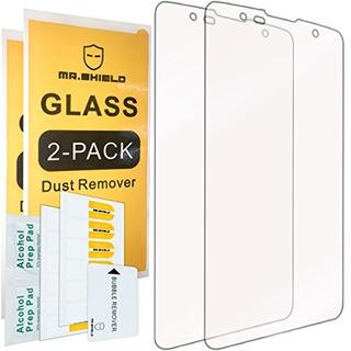 2pack Mr Shield Para Lg Stylus 2 Plus Vidrio Templado Protec