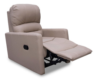 Sillon De Piel Reclinable Charly Especial Contado