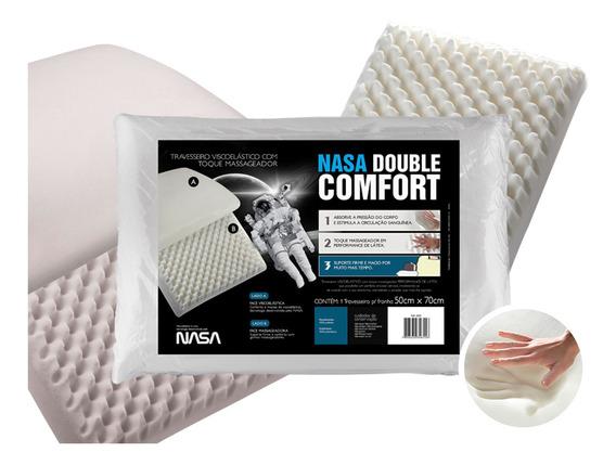 Travesseiro Fibrasca Nasa Double Comfort 3 50x70