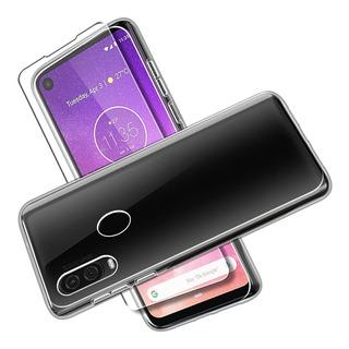 Estuche Y Mica Cristal Para Motorola One Vision