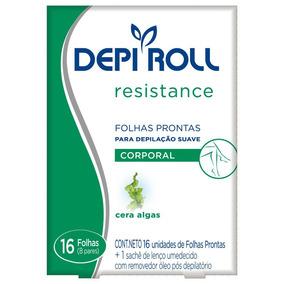 Depi Roll Resistance Folhas Prontas Corporal Cera Algas C/16