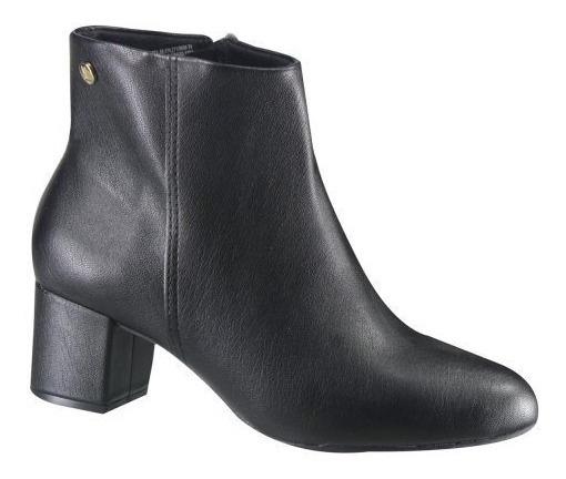 Bota Feminina Vizzano Ankle Boot Salto Grosso Preto 3067100