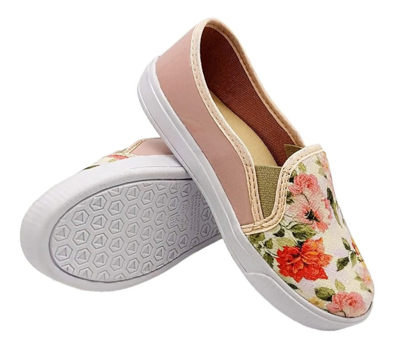 Tênis Feminino Infantil Casual Floral Estampado Cod: 013