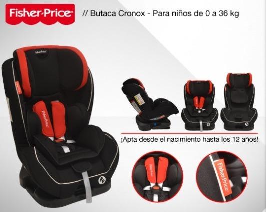 Butaca Auto Bebé Fisher Price Cronox Homologada 0-36 Kgs