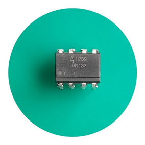 Kit C/ 5 Peças 6n137 Circuito Integrado Optoacoplador 6n137