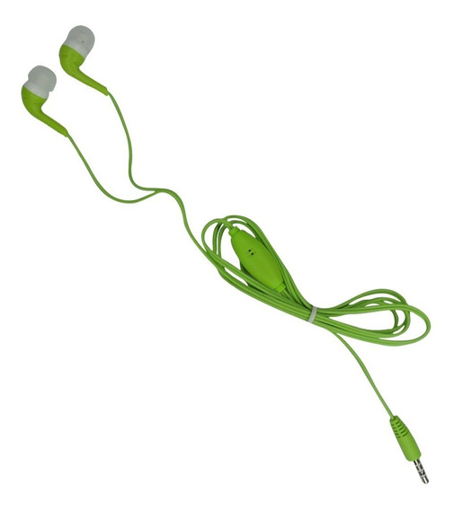 Fone De Ouvido Estéreo Intra-auricular Com Microfone - Verde
