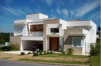 Belíssima Casa No Alphaville Granja Viana, 4 Suítes, 632m² Ter, 433m² Ac. Impecável! - Ca15624