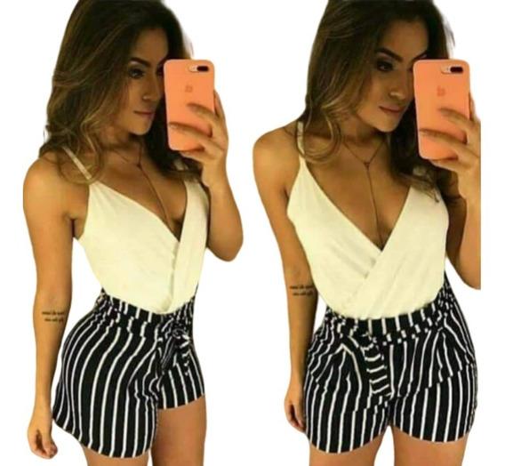 Shorts Feminino Short Bermudas Femininas Cintura Alta Curto