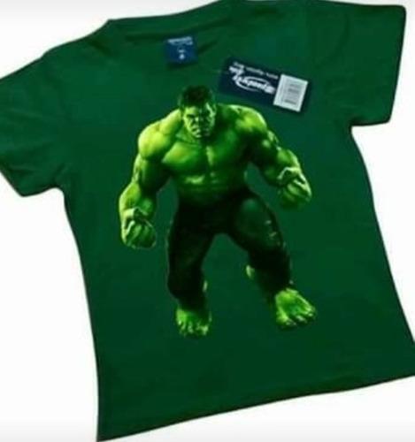 Remeras Camisetas Estampadas De Hulk En Varios Diseños