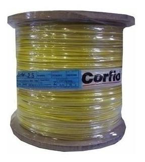 Cabo Flexível Bobina 2,5mm Amarelo Corfio Com 900 15314