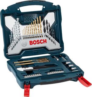 Set Kit De 50 Piezas Bosch Mechas Puntas Paleta Titanio Cutter Avellanador Dgm