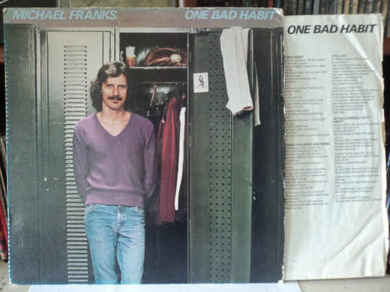 Lp:vinil-michael Franks:one Bad Habit:pop+encarte:importado
