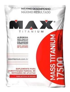 Massa Mass Titanium 17500 3kg Morango Max Titanium