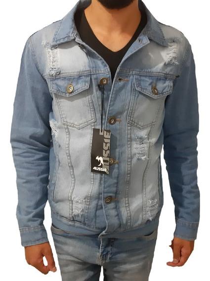 Jaqueta Jeans Masculina Rasgada Inverno De R$199 Por R$119